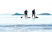SUP Gower, taster stand up paddle surfing sessions here in Swansea Bay region all equipment provided